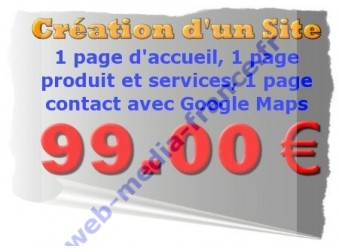 Site internet 3 pages 99 euros