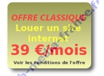 Louer un site internet 39 euros/mois