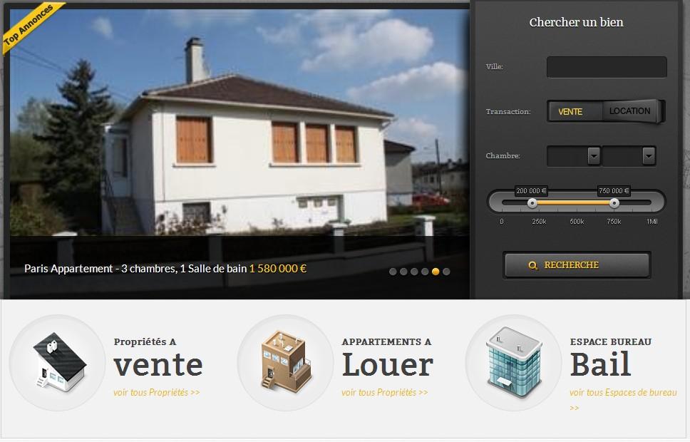 Site immobilier pas cher site internet gite et maison d'hôte